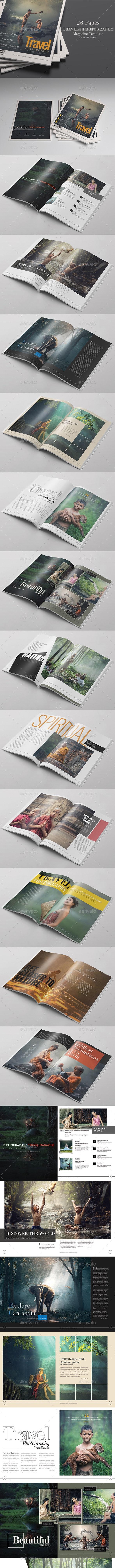 Photography / Travel Magazine Template - Magazines Print Templates