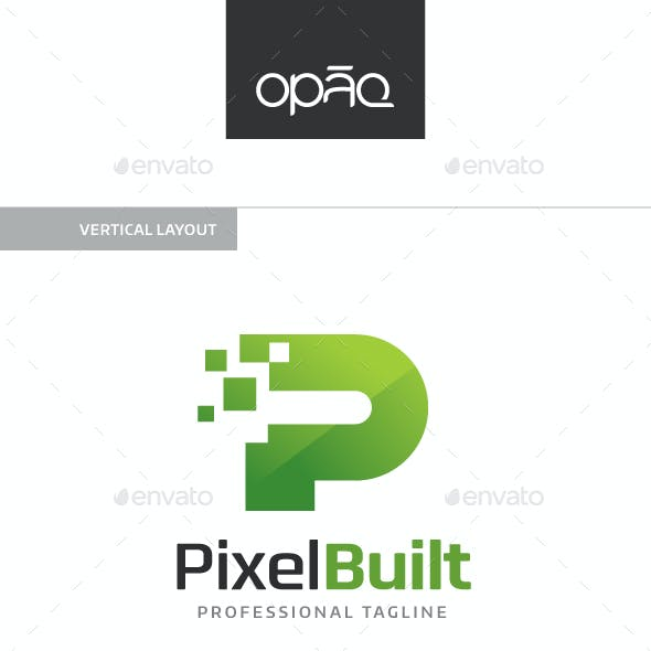 Pixel Built P Letter Logo