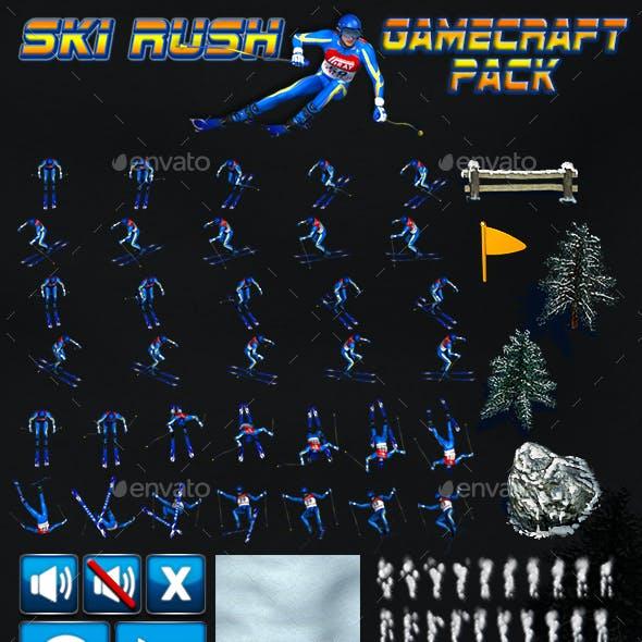 Ski Rush Game Assets