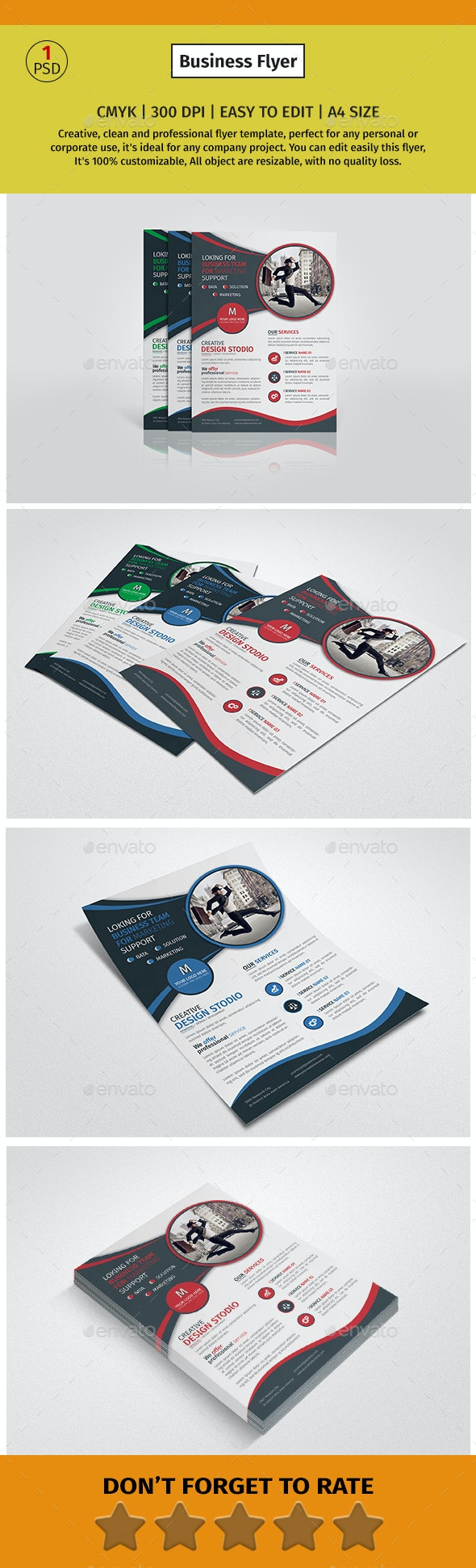 A4 Corporate Business Flyer #1 - Corporate Flyers