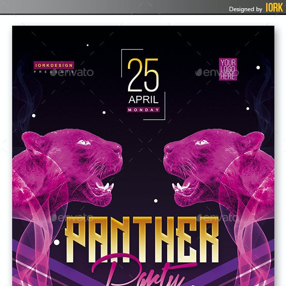 Panther Night flyer and poster