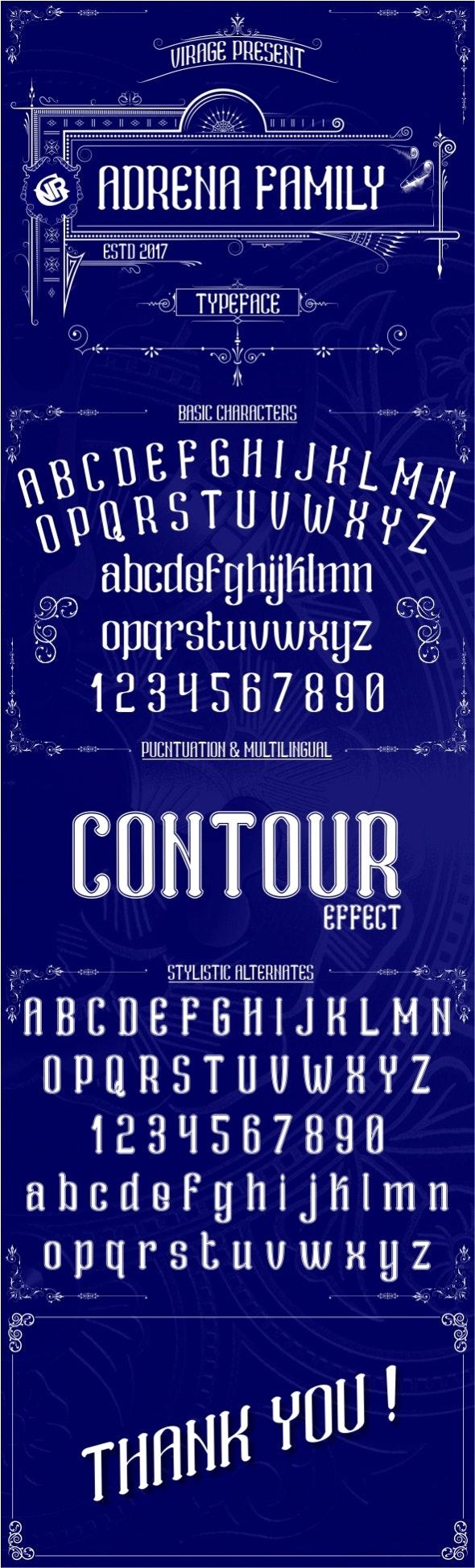 Adrena family - Decorative Fonts