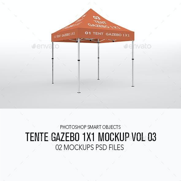 Tente Gazebo 1x1 Mockup Vol 03