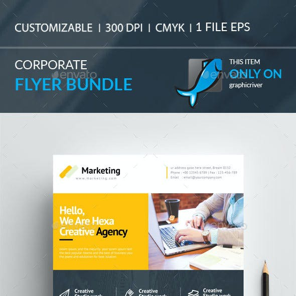 Corporate Flyer Bundle 2in 1