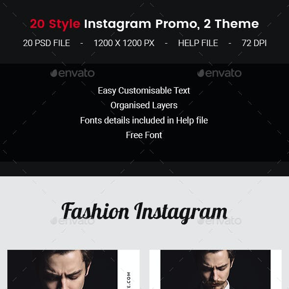 20 Instagram Fashion Promo