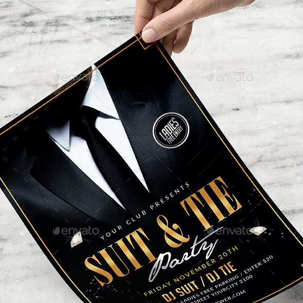 Suit and Tie Flyer
