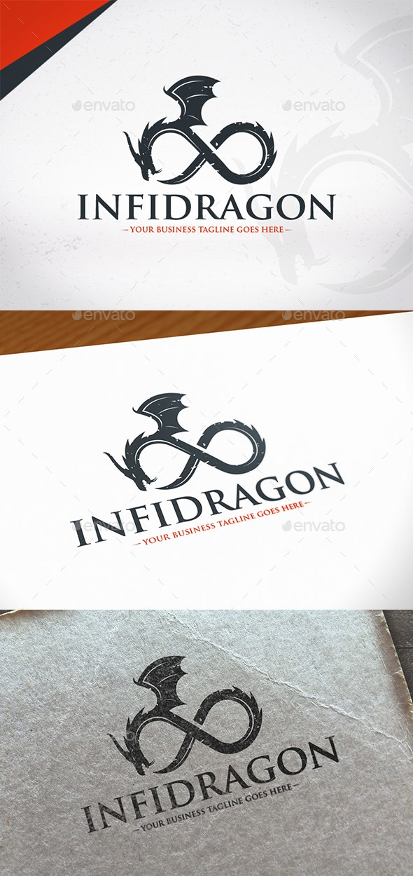 Endless Dragon Logo Template - Animals Logo Templates