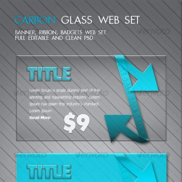 Carbon Glass Banner Set - Banner, Ribbon, Badgets
