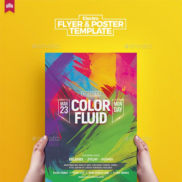 Color Fluid - Flyer Template