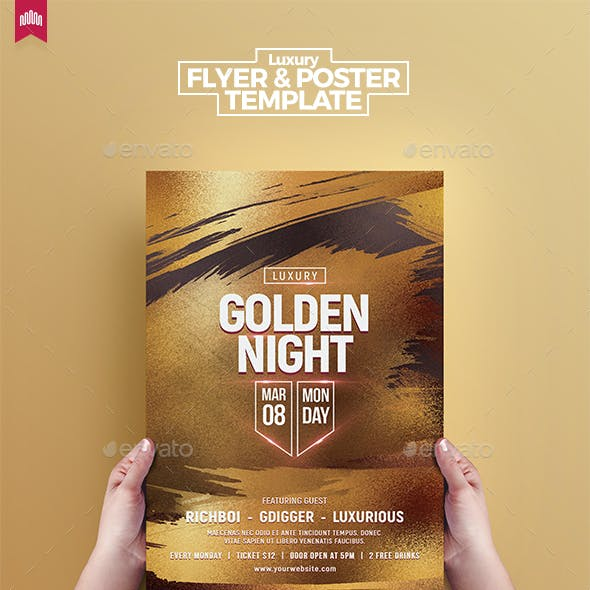 Gold Night - Flyer Template