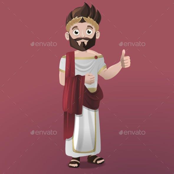 Cartoon Roman Emperor