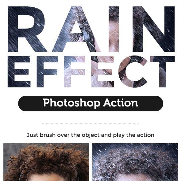 Rain Effect Photoshop Action