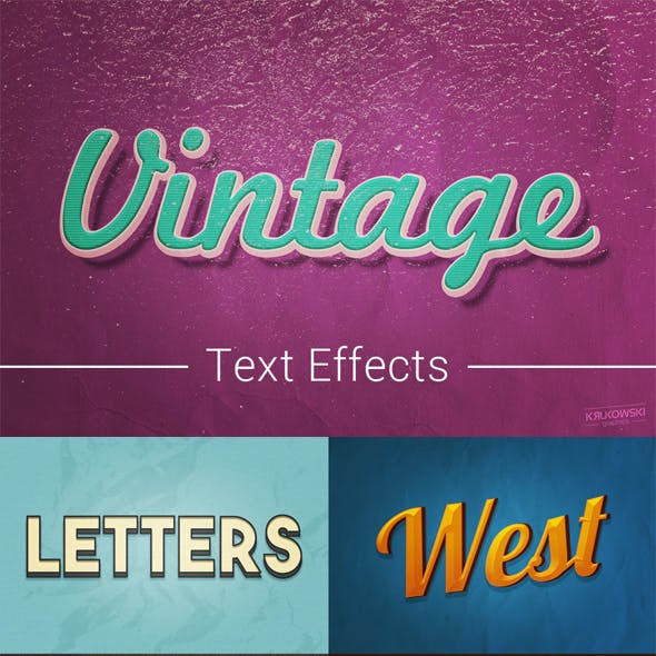 Vintage Old Text Effects