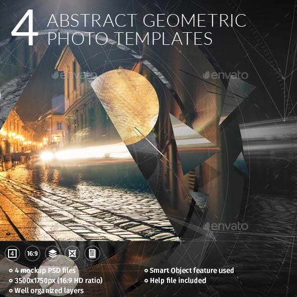 4 Abstract Geometric Photo Templates
