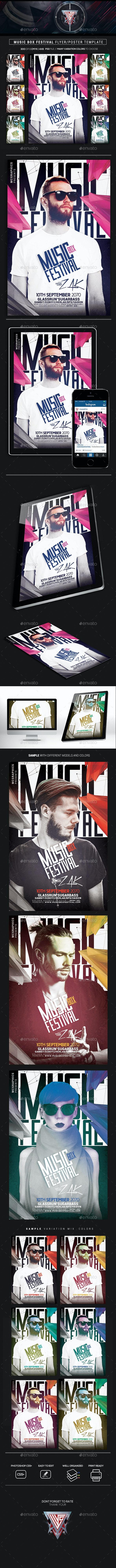 Music Box Festival DJs Flyer/Poster Template - Events Flyers