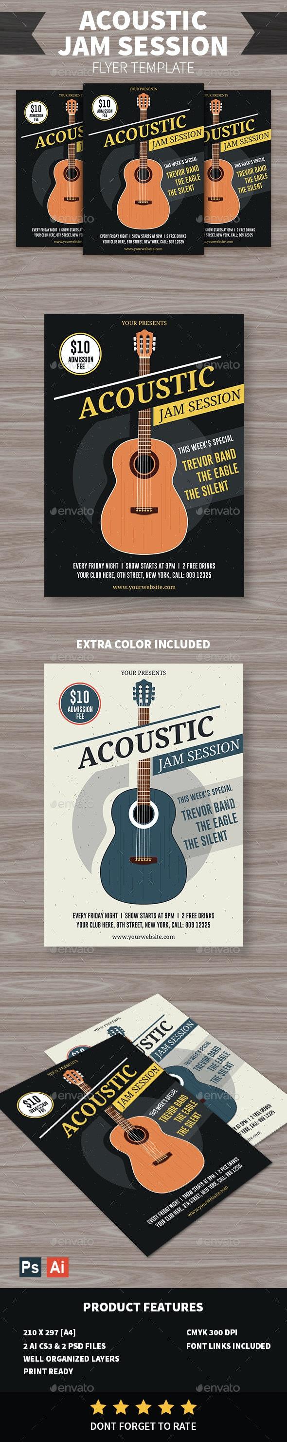 Acoustic Jam Session Flyer - Events Flyers