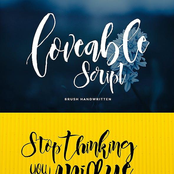 Loveable Script Font Duo