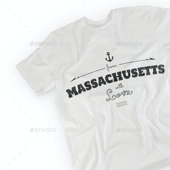 Massachusetts T-Shirt Design