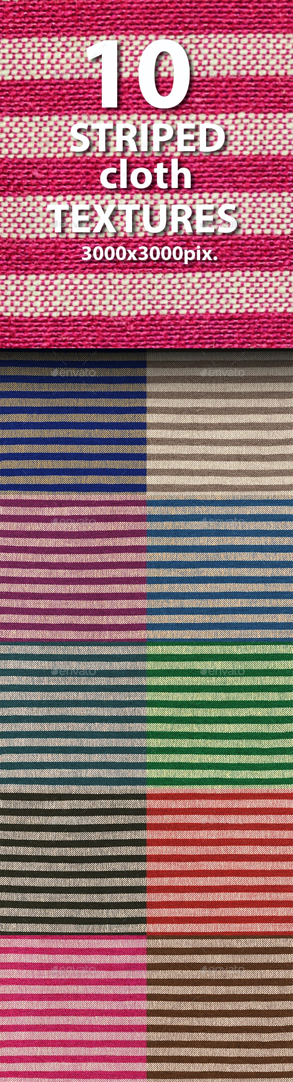Seamless Textures of Striped Cloth - Fabric Textures