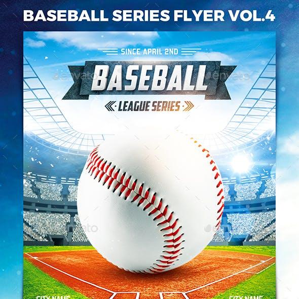 Baseball League Series Flyer vol.4