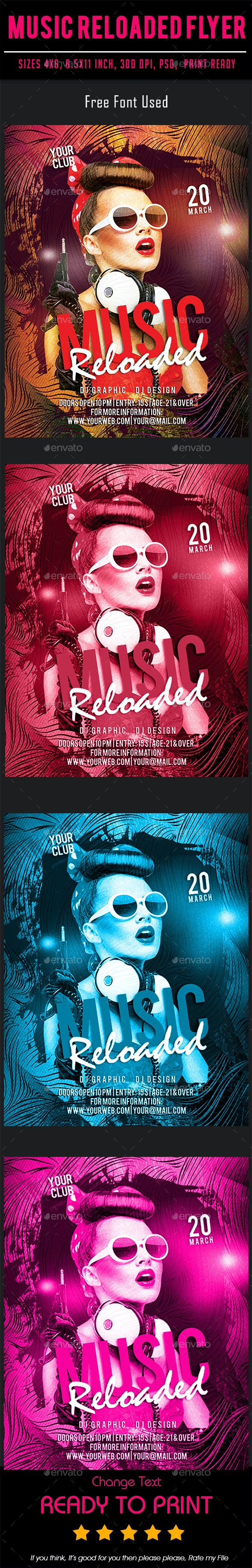 Music Reloaded Flyer - Events Flyers