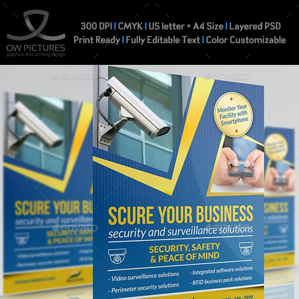 Security System Flyer Template Vol.2