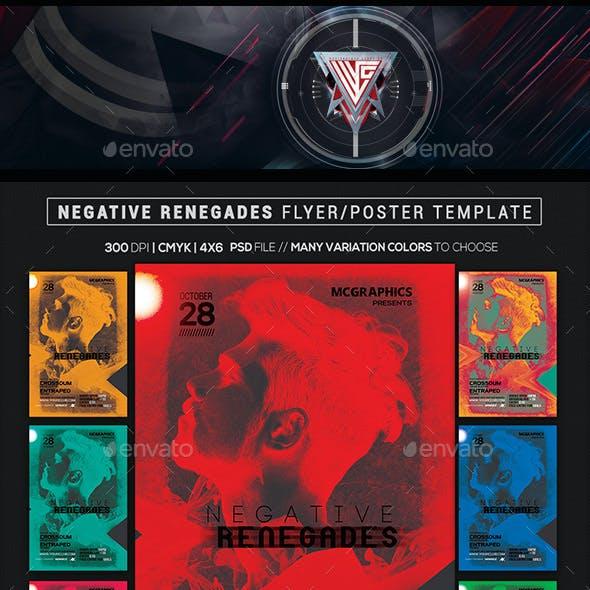 Negative Renegades Flyer/Poster Template