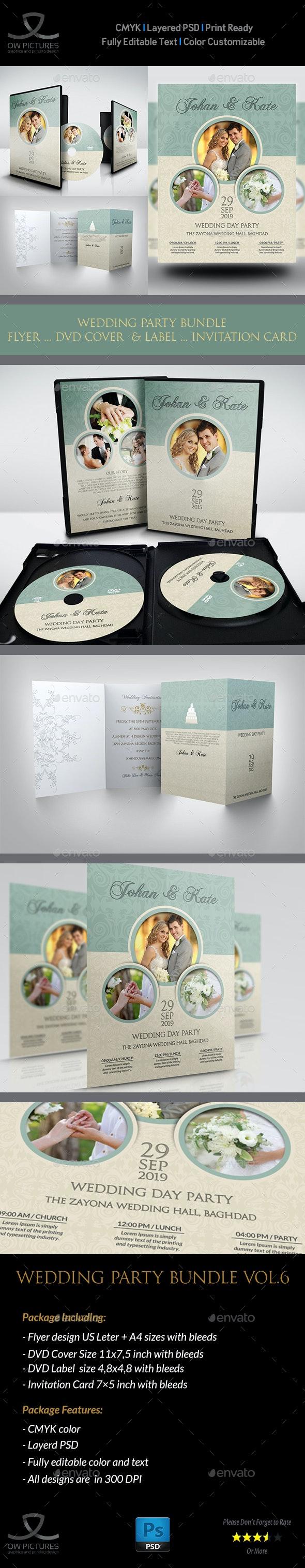 Wedding Party Bundle Vol.6 - Weddings Cards & Invites