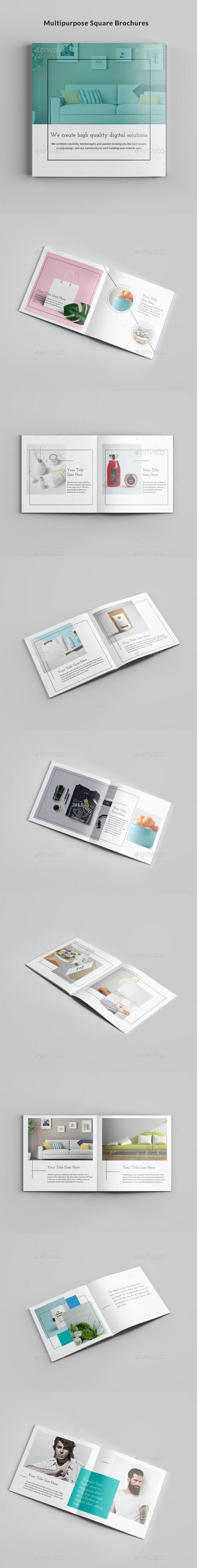 Multipurpose Square Brochures - Portfolio Brochures