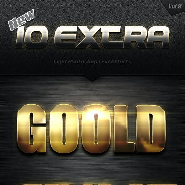 New 10 Extra Light Text Effects Vol.9