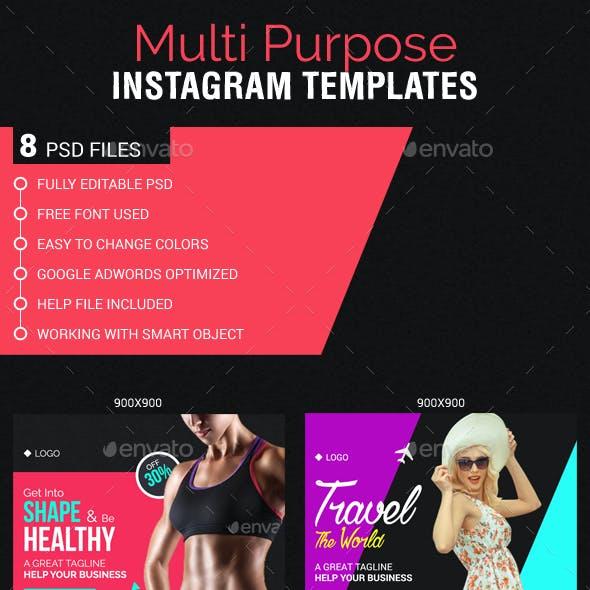 Multipurpose Instagram web Templates