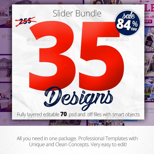 Bundle Web Sliders 35 designs