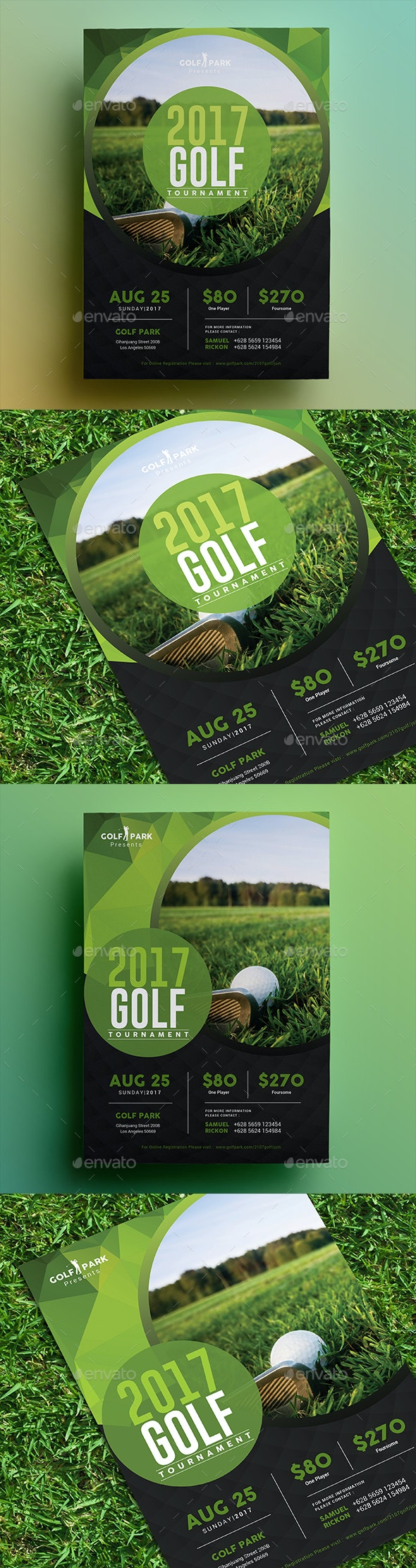 Golf Tournament Flyer 02 - Sports Events
