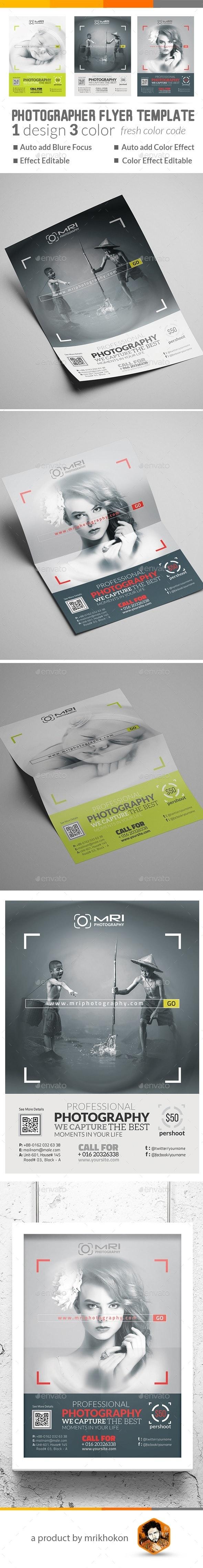 Photographer Flyer - Flyers Print Templates