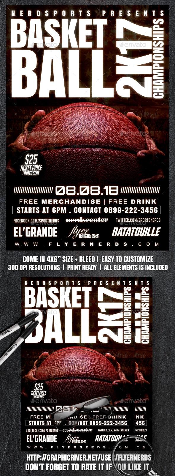 Basketball 2K17 Championships Sports Flyer - Sports Events