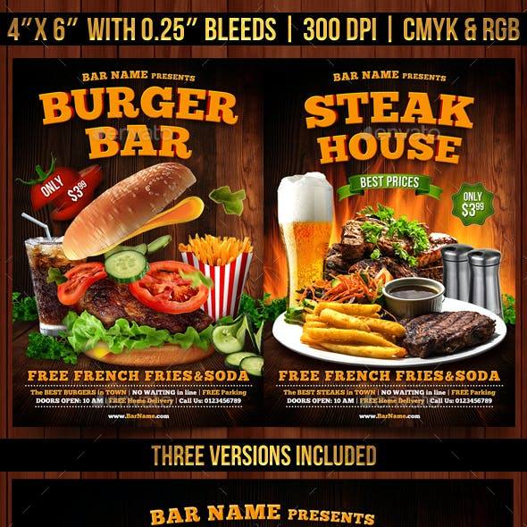 Burger, Steak and Kebab Flyer Template