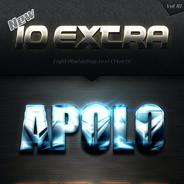 New 10 Extra Light Text Effects Vol.10
