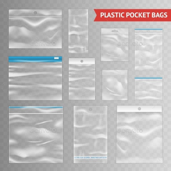 Plastic Clear Transparent Realistic Bags