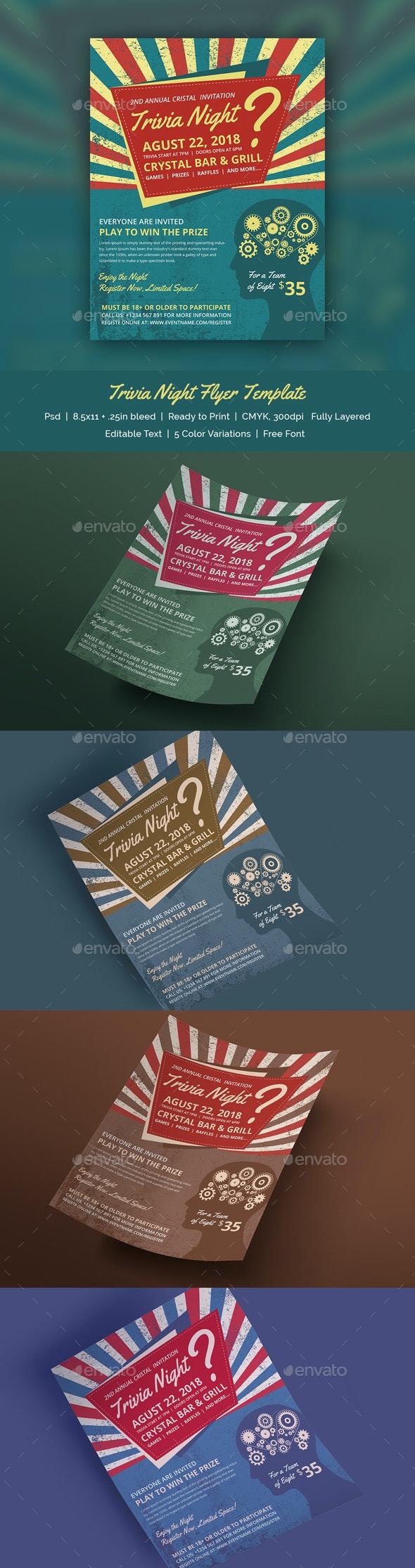 Trivia Night Flyer Template - Print Templates