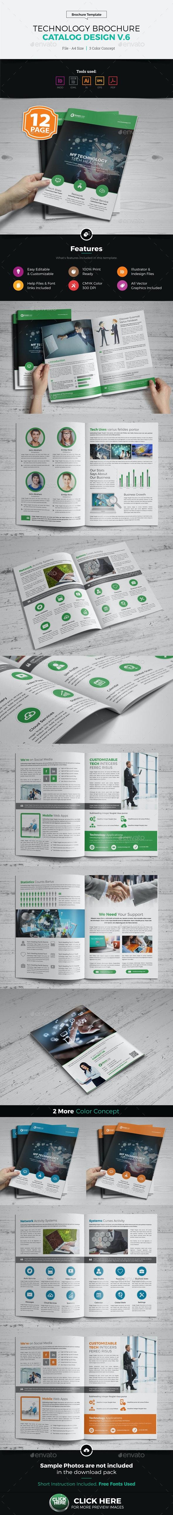 Technology Brochure Catalog Design v6 - Corporate Brochures
