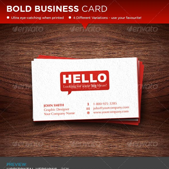 Bold Red Business Card