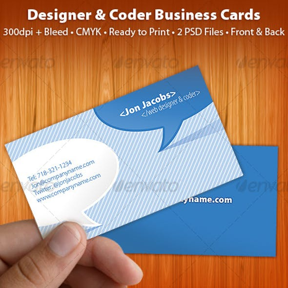 Clean and Cool Blue Business Card