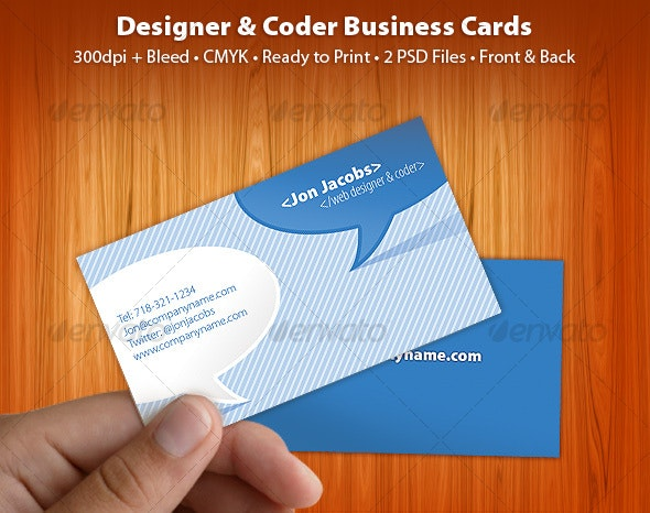 Clean and Cool Blue Business Card - Industry Specific Business Cards
