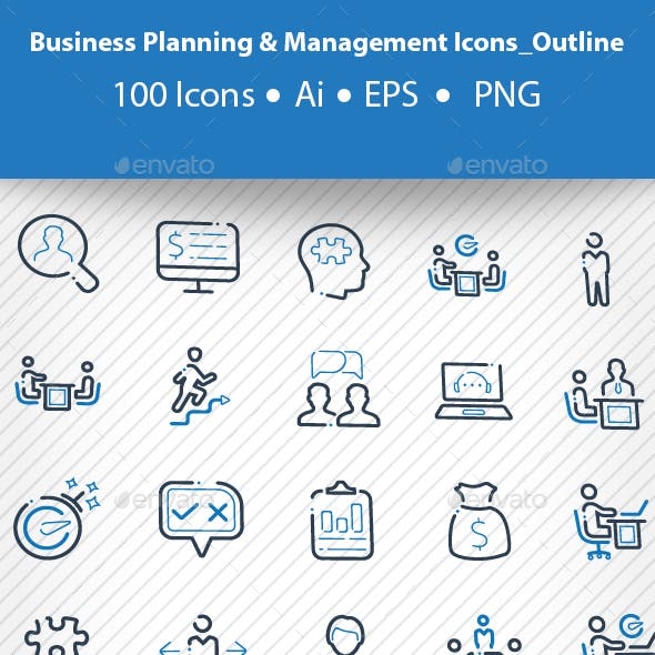 Business Planning & Management Icons_Outline
