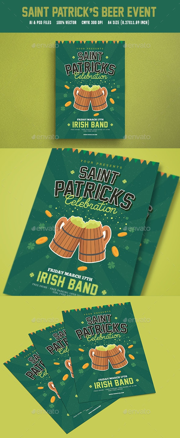 St Patrick's Beer Event Flyer - Events Flyers