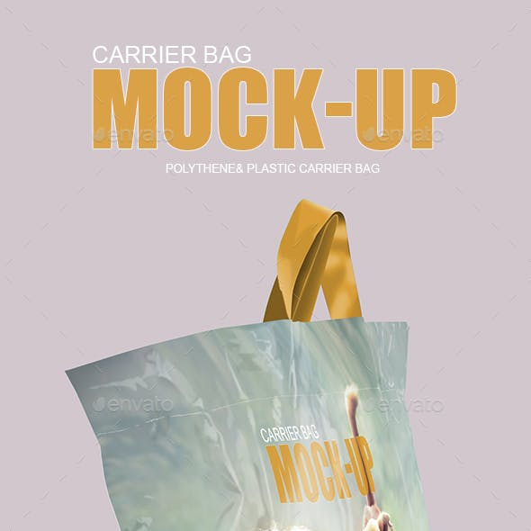 Polythene and Plastic Carrier Bag Mockup