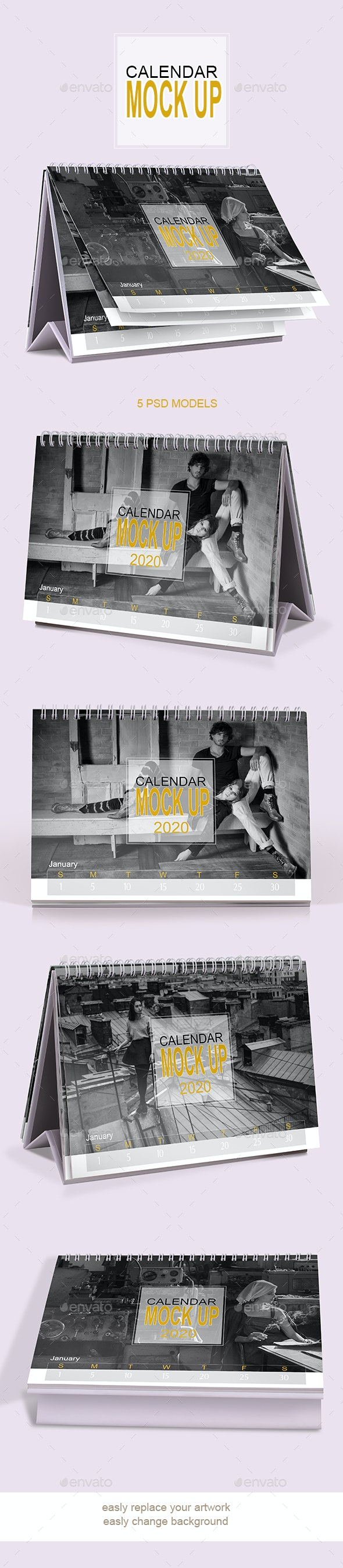 Calendar Mockup - Product Mock-Ups Graphics