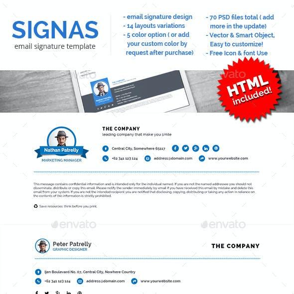 Signas Vol.02 - Email Signature Template