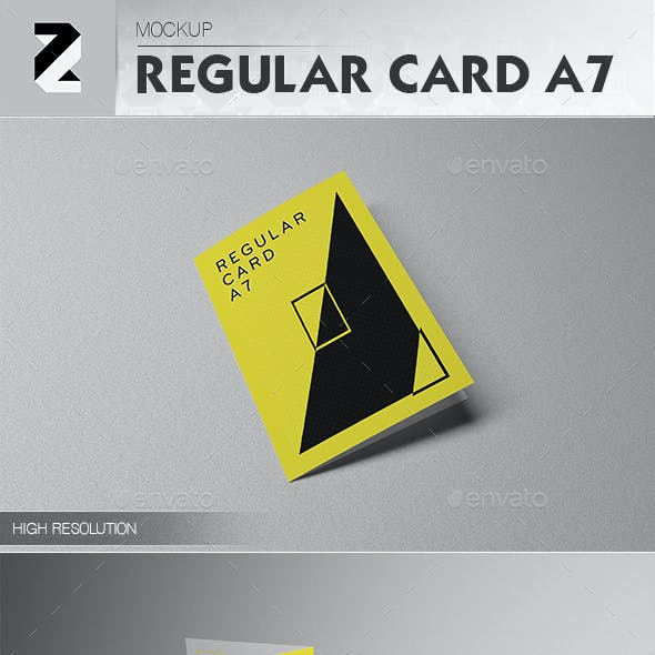 Regular Card A7 Mockup v1