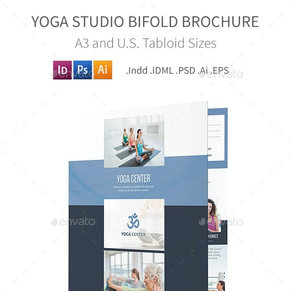 Yoga Studio Bifold / Halffold Brochure